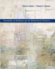 Essentials of Statistics for the Behavioral Sciences 1st Edition 9781429223263 142922326X