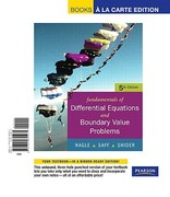 Fundamentals of Differential Equations with Boundary Value Problems with IDE CD, Books a la Carte Edition 5th edition 9780321655271 0321655273