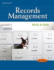 Records Management 9th Edition 9781133008521 1133008526