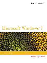 New Perspectives on Microsoft Windows 7, Introductory 1st edition 9781111790189 1111790183