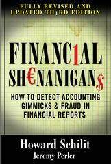 Financial Shenanigans 3rd Edition 9780071703079 0071703071