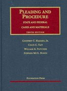 Cases and Materials on Pleading and Procedure 10th Edition 9781599416038 1599416034