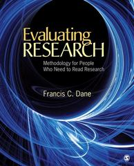 Evaluating Research 1st Edition 9781412978538 141297853X