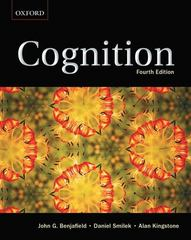 Cognition 4th Edition 9780195430325 0195430328