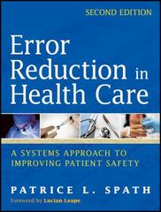 Error Reduction in Health Care 2nd Edition 9781118001516 1118001516