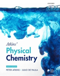 Atkins' Physical Chemistry 9th edition 9780199543373 0199543372