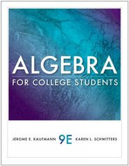 Algebra for College Students 9th edition 9781111789954 1111789959