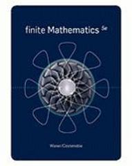 Finite Mathematics 5th Edition 9781439049242 1439049246
