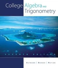 Algebra and trigonometry: real mathematics, real people, 7th.