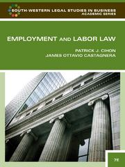 Employment and Labor Law (South-Western Legal Studies in Business Academic) 7th Edition 9781439037270 1439037272