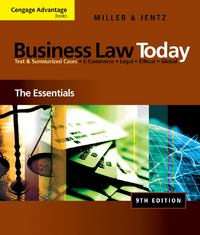 Cengage Advantage Books: Business Law Today 9th Edition 9780324786156 0324786158
