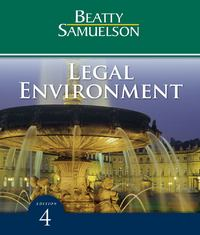 Legal Environment 4th edition 9781111785987 1111785988