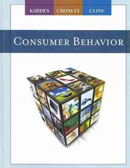 Consumer Behavior 1st Edition 9780538745406 0538745401