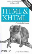 HTML and XHTML Pocket Reference 4th Edition 9780596805869 0596805861