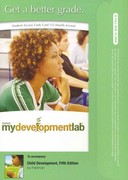 MyDevelopmentLab -- Standalone Access Card -- for Child Development 5th edition 9780205633531 0205633536
