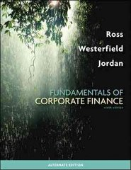 Fundamentals of Corporate Finance Alternate Edition with Connect Plus Access Card 9th edition 9780077388195 0077388194