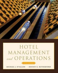 Hotel Management and Operations 5th Edition 9780470177143 0470177144