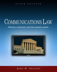 Communications Law 6th Edition 9781111786380 1111786380