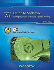 A+ Guide to Software 5th Edition 9781435487376 1435487370