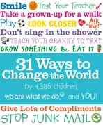 31 Ways to Change the World 1st edition 9780763645069 0763645060