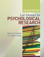 Lab Manual for Psychological Research 2nd Edition 9781412979764 1412979765