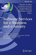 Software Services for e-Business and E-Society 1st edition 9783642042799 3642042791