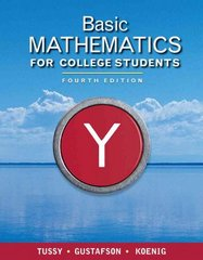 Basic Mathematics for College Students 4th edition 9781439044421 1439044422
