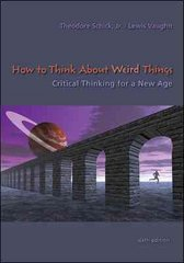 How to Think About Weird Things 6th edition 9780073535777 007353577X