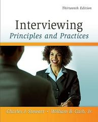 Interviewing 13th Edition 9780073406817 0073406813