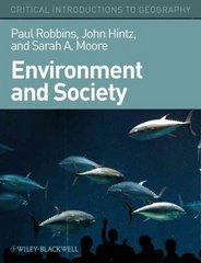 Environment and Society 1st Edition 9781405187602 1405187603