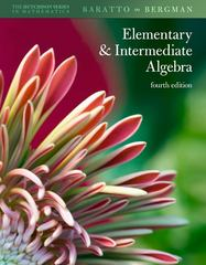 Hutchison's Elementary and Intermediate Algebra 4th edition 9780077350123 007735012X