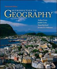 Introduction to Geography 13th edition 9780073522876 0073522872