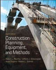 Construction Planning, Equipment, and Methods 8th edition 9780073401126 0073401129