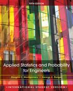 Applied Statistics and Probability for Engineers, 5e International Student Version 5th edition 9780470505786 0470505788