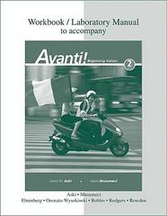 Workbook/Laboratory Manual t/a Avanti! 2nd edition 9780077270483 0077270487