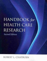 Handbook for Health Care Research 2nd Edition 9780763778057 0763778052