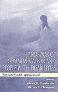 Handbook of Communication and People With Disabilities 0 9780585180427 0585180423