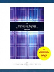 International Business: Competing in the Global Marketplace (International Edition) 8th edition 9780071220835 0071220836