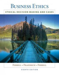 Business Ethics 8th edition 9781439042236 1439042233