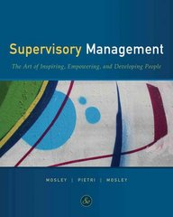 Supervisory Management 8th edition 9780538737074 0538737077