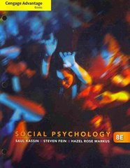 Cengage Advantage Books: Social Psychology 8th edition 9780840032171 084003217X