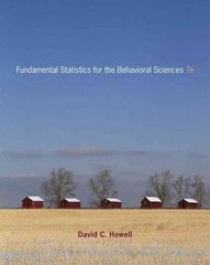 Fundamental Statistics for the Behavioral Sciences 7th edition 9780495811251 0495811254
