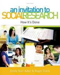 An Invitation to Social Research 4th edition 9780495813293 049581329X