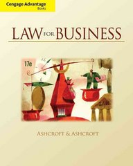 Cengage Advantage Books: Law for Business 17th Edition 9781111785932 1111785937