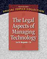 Legal Aspects of Managing Technology 5th Edition 9781111789435 1111789436