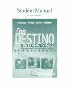 Student Manual to Accompany Con Destino a la Comunicacion 1st edition 9780070275102 0070275106