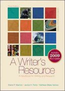 A Writer's Resource (comb-bound) 2009 MLA Update with Connect Composition Access Card 3rd edition 9780077355739 0077355733