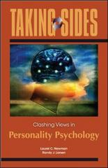 Taking Sides: Clashing Views in Personality Psychology 1st Edition 9780078050008 0078050006