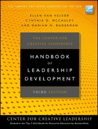 The Center for Creative Leadership Handbook of Leadership Development 3rd Edition 9780470387399 0470387394