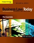 Study Guide for Miller/Jentz's Business Law Today: The Essentials 9th edition 9780324786347 0324786344